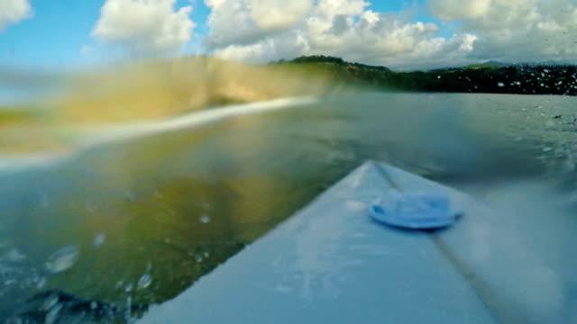 POV Surfer on Blue Ocean Wave video