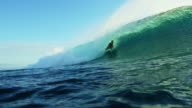 Surfer Riding Ocean Wave video