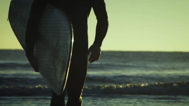 Surfer Walking to the Water video