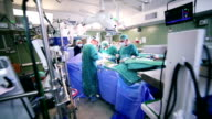 Surgeons working in operating room video