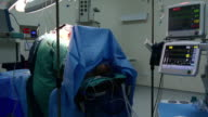Surgery operation, general view in hospital video