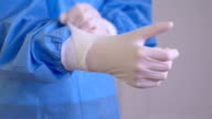 Surgical gloves       PR  HE video