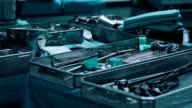 Surgical tray with clean instruments ready for surgery video