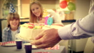 SLO MO surprise cake for girls tenth birthday video