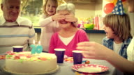 SLO MO surprise cake for grandma video