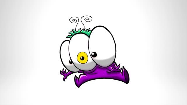 Surprised Monster. Luma matte. video