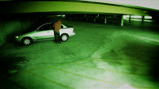Surveillance Footage Of A Car Being Broken Into video