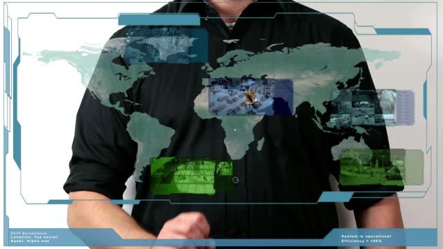 Surveillance screen video