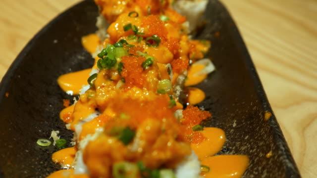 Sushi bar Japanese Food video
