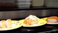 Sushi belt conveyor video
