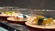 Sushi conveyor video