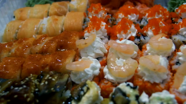 Sushi in Plastic Box video