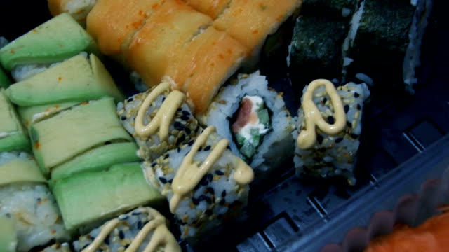 Sushi in Plastic Box video