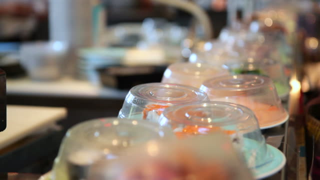 Sushi on Conveyer Belt video