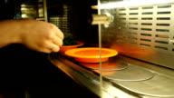 Sushi On Conveyor Belt In Japanese Restaurant video