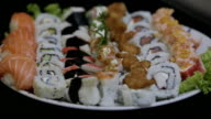 Sushi platter video
