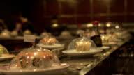 Sushi road in restourant video