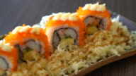 sushi roll - japanese food video
