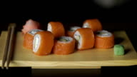 Sushi rolls video