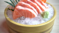 Sushi salmon video
