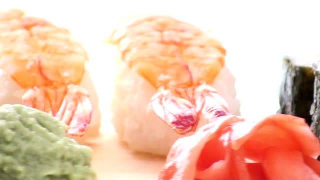 Sushi seamless loop close-up - HD video