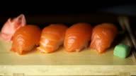 Sushi set. Macro video