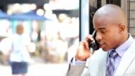 Suspicious businessman on the phone video