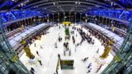 Suvarnabhumi Airport And People Crowd Inside Landmark International Airport Of Bangkok City, Thailand video