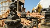KATHMANDU, NEPAL - MAY 1, 2015: Swayambhunath (monkey temple) stupawhich was severly damaged after the major earthquake video