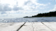 Swaying Wooden Jetty - Shallow Depth of Field video