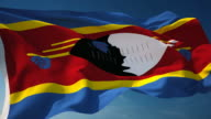 4K Swaziland Flag - Loopable video