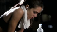 Sweating after a workout video