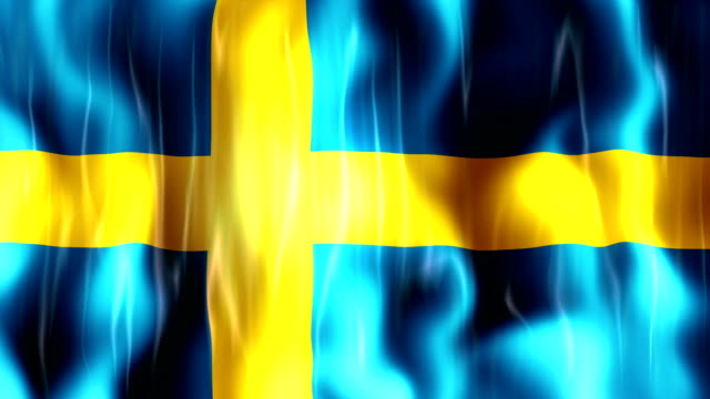 Sweden Flag Animation video