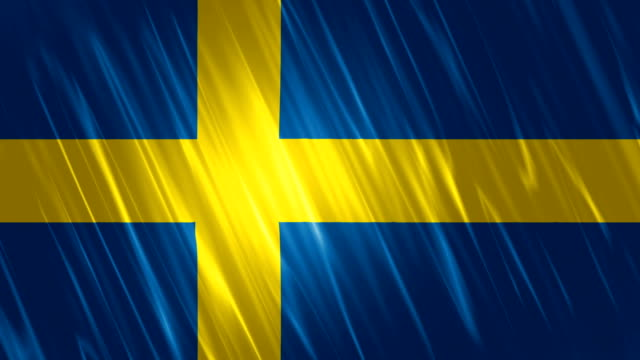 Sweden Flag Loopable Animation video