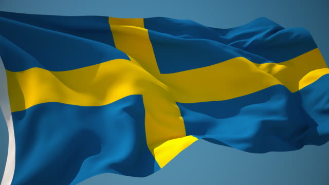 4K Sweden Flag - Loopable video