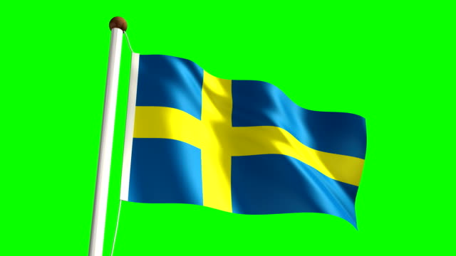 Sweden flag (Loop & green screen) video