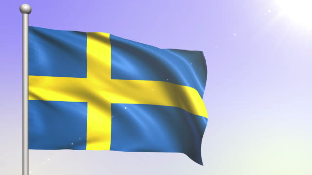 Sweden Flag (Loopable) video