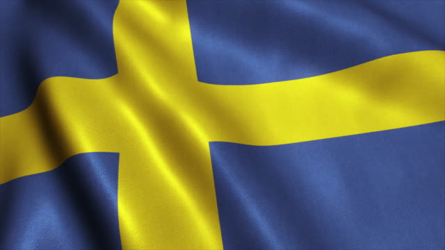 Sweden Flag Video Loop - 4K video