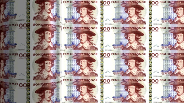 Sweden Kronor printing - animation video