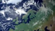 Sweden pops up after earth zoom  (with alpha matte) video