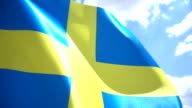 Swedish Flag High Detail video