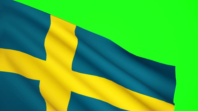 Swedish flag Luma matte video