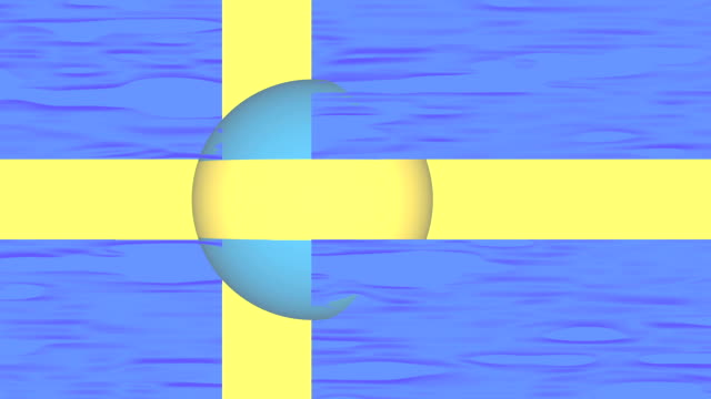 Swedish flag with sphere part video