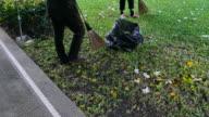 sweep garbage video
