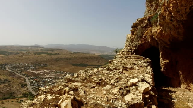 Sweeping View of Valley Below from Mountain in Israel video