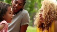 Sweet African-American family spending quality time video