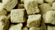 Sweet and unhealthy - cubes of brown sugar video