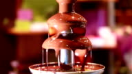 Sweet delicious chocolate fountain. video