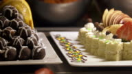 Sweet delicious tasty dish closeup video