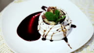 Sweet dessert of meringue video